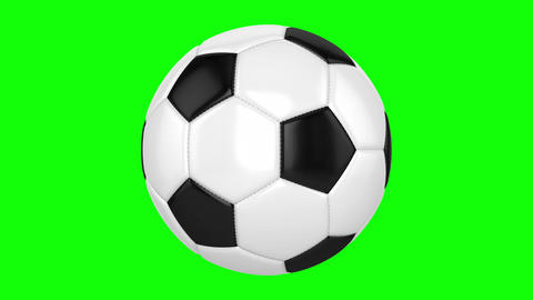 Soccer Ball On A Green Background Animation