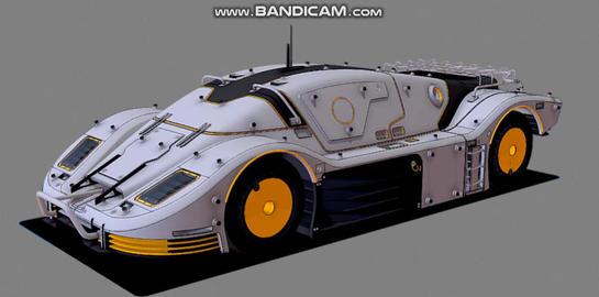 Cyberpunk racecar 3D Model