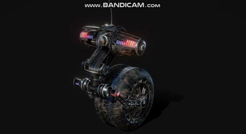 Cyber police robot 3D Model