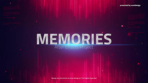 The Memories Words Opener After Effects Template
