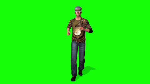 418 3d animated Handsome man runs Animation