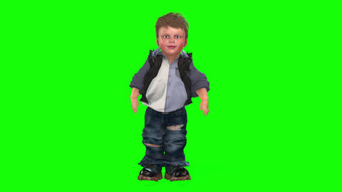 422 3d animated boy run and greets Animation