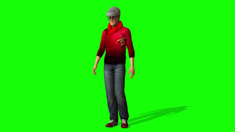 437 3d animated handsome model walks and talks Animation