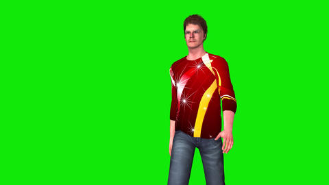 440 3d animated man walks three views Animation