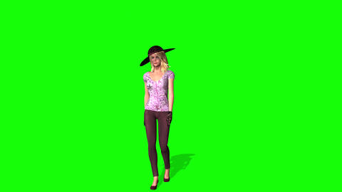 434 3d animated posh girl in three different costumes Animation