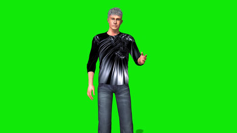 455 3d animated young man makes suggestions Animation