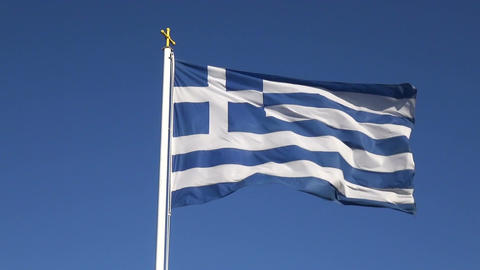 Greek Flag 1 Footage