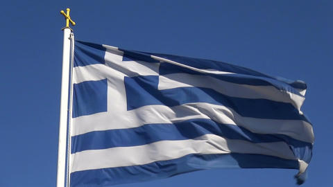 Greek Flag 2 Footage