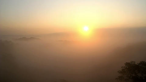 Beautiful Sunrise on the mountain-1 Footage