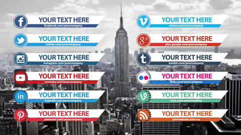 Clean Social Media Lower Thirds Pack After Effects Template