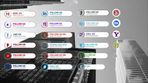 Social Media Lower Thirds 1 0 Motion Graphics Template