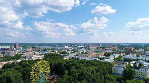 Ferris Wheel In The City Park Drone Collection 1