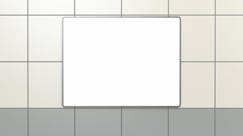 Blank billboard at subway station Animation