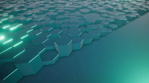 Abstract Hexagonal Geometric Animation