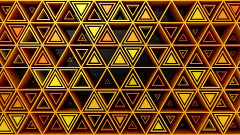 Background of Triangles CG動画