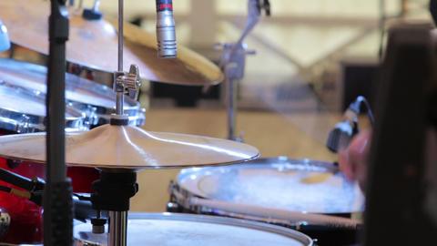 Drummer Plays Closeup Live Action