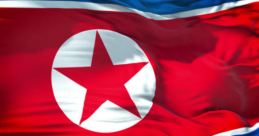 north korea flag waving texture fabric background, crisis of north and south korea, korean risk Live Action