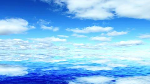 Sunny sky ocea Animation