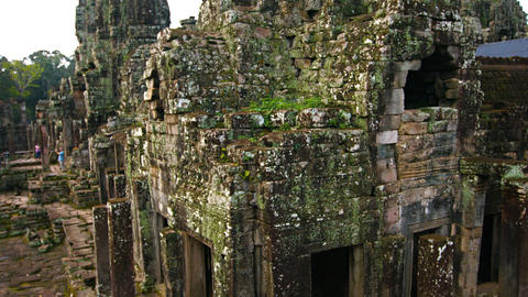 Bayon Temple Undergoing Restoration in Cambodia. UHD video Footage