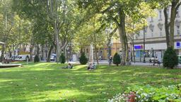 Park Zrinjevac in Zagreb Footage