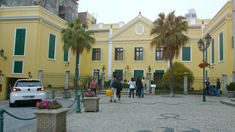 Bishop's House. an important architectural and historical landmark in Macau Footage