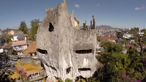 Hang Nga Crazy House. an architectural attraction and guest house in Dalat Footage