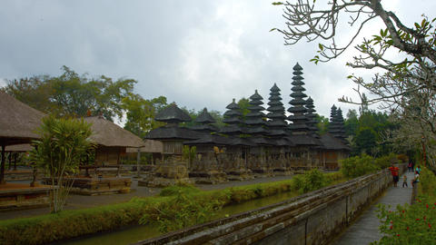 Walled Compound of Pura Taman Ayun Temple in Bali. Indonesia Footage