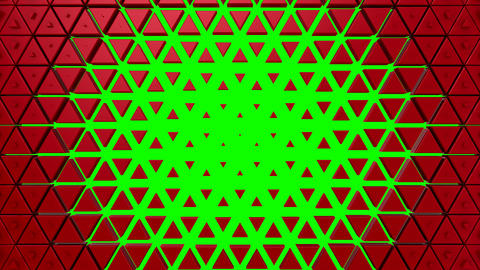 Triangles Form A Wave Animation