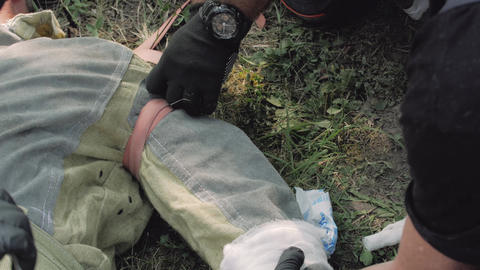 Bandaging Hand First Aid Live Action