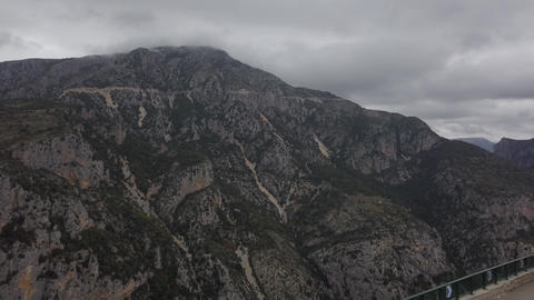 Huge mountain covered in trees, with a cloud covering the top, Turkey, 4k Live Action