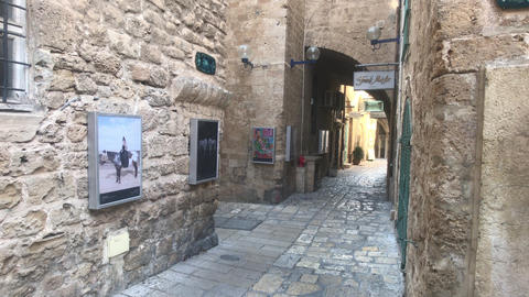 Tel Aviv, Israel - October 22, 2019: historic part of the city part 16 Live Action