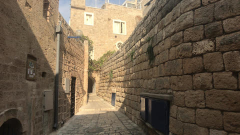 Tel Aviv, Israel - October 22, 2019: historic part of the city part 11 Live Action
