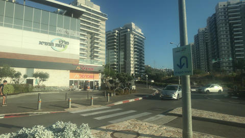 Haifa, Israel - city bus traffic at speed part 13 Live Action