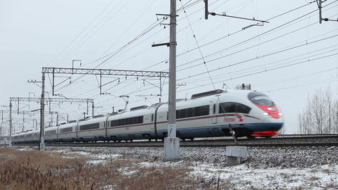 High-speed passenger train in motion Live Action
