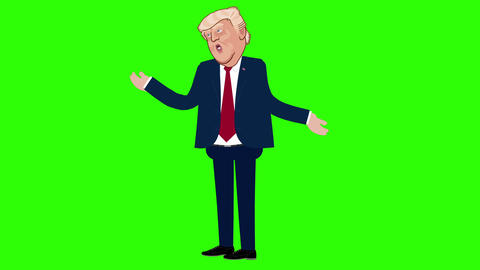 Donald Trump Animation on a Green Screen Live Action
