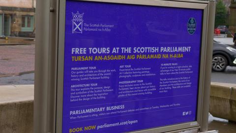 Free tours at the Scottish Parliament in Edinburgh - EDINBURGH, SCOTLAND - Live Action