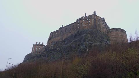 Edinburgh Castle on Castlehill in the historic district - EDINBURGH, SCOTLAND - Live Action
