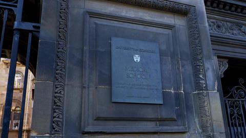 University of Edinburgh - Medical School - EDINBURGH, SCOTLAND - JANUARY 10 Live Action