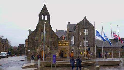The Queens Gallery in Edinburgh - EDINBURGH, SCOTLAND - JANUARY 10, 2020 Live Action