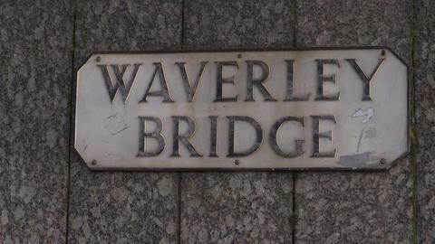 Waverly Bridge Edinburgh - EDINBURGH, SCOTLAND - JANUARY 10, 2020 Live Action