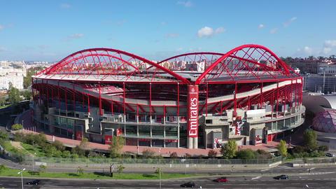 Amazing architecture of Benfica Lisbon soccer stadium Estadio da Luz - CITY OF Live Action