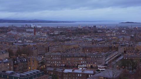 Cityscapes of Edinburgh Scotland Live Action