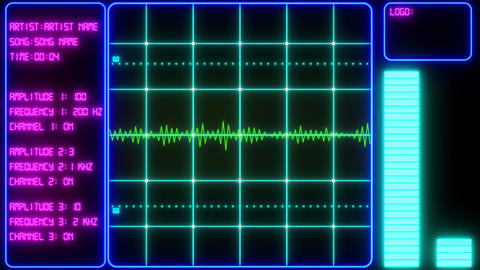 Oscilloscope Screen Music Visualizer After Effects Template