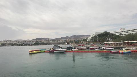 Eilat, Israel - Harbour tourist ships part 3 Live Action