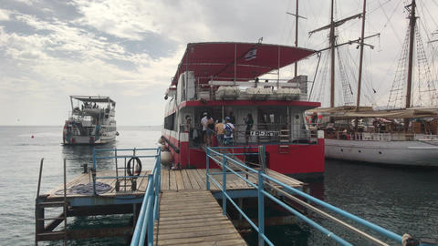 Eilat, Israel - October 24, 2019: tourists on a pleasure boat part 13 Live Action