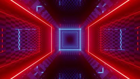 colorful futuristic neon room 3d render animation CG動画