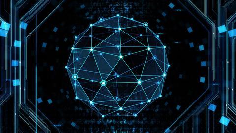 Digital data computer AI technologies concepts Background 5 black28 Animation