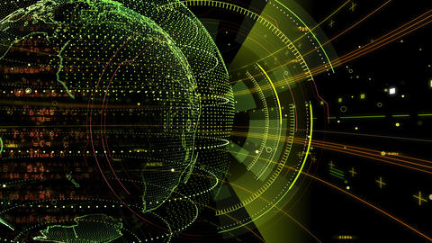 Digital data computer AI technologies concepts Background 5 black29 Animation