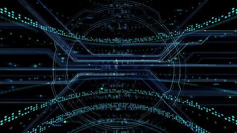 Digital data computer AI technologies concepts Background 5 black01 Animation