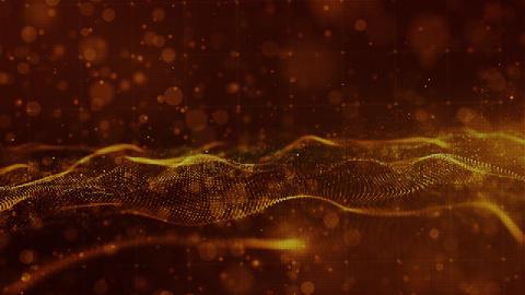 Digital particles wave 00431 CG動画